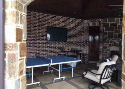 Hang TV porch